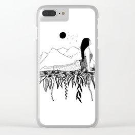 Inktober Stretch Clear iPhone Case