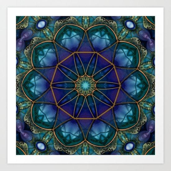 Moonstone Mandala Art Print