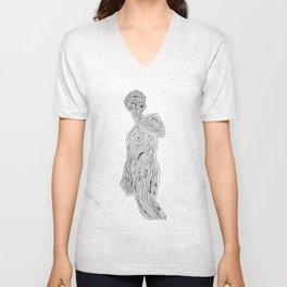 Body acceptance - minimalistic drawing Unisex V-Neck