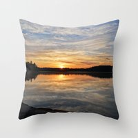 minnesota Throw Pillows featuring Minnesota Sunrise by Heartland Photography By SJW