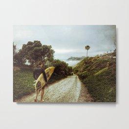 Surfer Boy, Cardiff, California Metal Print