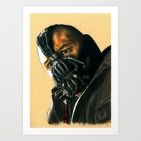 bane Art Prints featuring BANE by csmithart