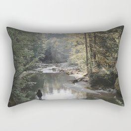 All the Drops form a River - landscape photography Rectangular Pillow