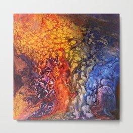 SoapsAndRoses.Art: Fluid Sunset Metal Print