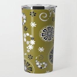 moss green paisley Travel Mug