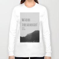 jane austen Long Sleeve T-shirts featuring Mountains Jane Austen by KimberosePhotography