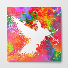 Hummingsplat - Colorless Metal Print