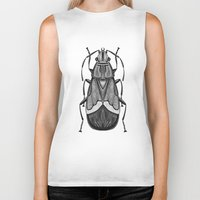 bug Biker Tanks featuring Bug by pereverzeva