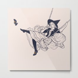 Rococo Witch Metal Print
