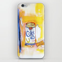 Colt 45 and 2 Zig Zags (An ode to Afroman) iPhone Skin