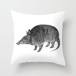 Little Armoured One Throw Pillow