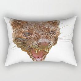 Fossa Face Aggressive Insane Villain Mammal Carnivorous Predator Rectangular Pillow