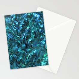 Abalone Shell   Paua Shell   Sea Shells   Patterns in Nature   Cyan Blue Tint   Stationery Cards