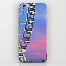 Ferris wheel at sunset iPhone Skin