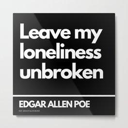 54   Edgar Allen Poe Quotes   201012  Existentialism Nihilism Existentialist Philosophy Writer Raven Metal Print
