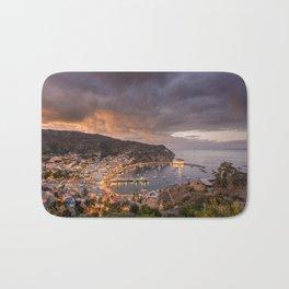 Harbor at Avalon on Catalina Island at Sunset Bath Mat