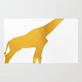 Giraffe Silhouette in Bold Gold Rug