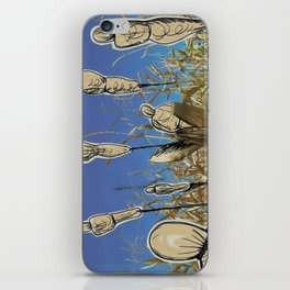 Human cornfield /Maizal humano iPhone Skin