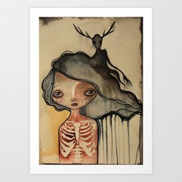 The Dark Inside Art Print