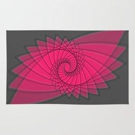hypnotized - fluid geomatrical eye shape Rug
