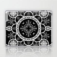 Scarab tile line pattern with black Background Laptop & iPad Skin