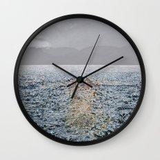 Swimming under the rain Wall Clock