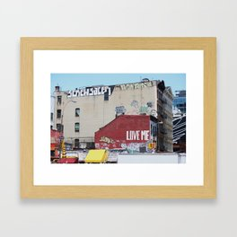 Canal and Broadway Framed Art Print