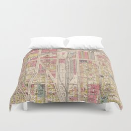 Vintage Map of Indianapolis Indiana (1916) Duvet Cover