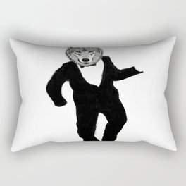 Dancing Wolf Rectangular Pillow