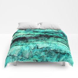 Turquoise onyx marble Comforters