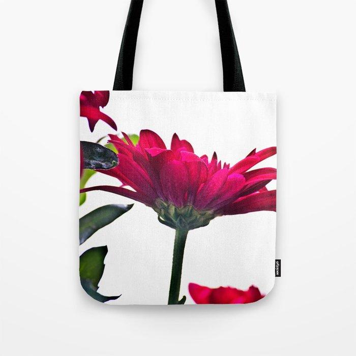 Red Chrysanthemum Flowers Tote Bag