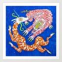 八 Perpetuation (White Tiger Chases Antelope in the Blue Dimension) by tigereater