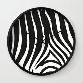 Zebra Stripes | Animal Print | Black and White | Wall Clock