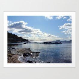 View from Ingaro Beach Art Print