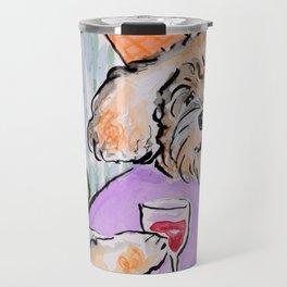 Party Doodles Red Wine Travel Mug