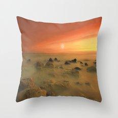 Moon Rocks Throw Pillow