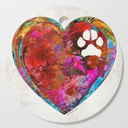 Dog Art - Puppy Love 2 - Sharon Cummings Cutting Board