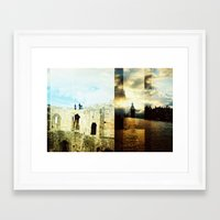 england Framed Art Prints featuring England by magsjoy