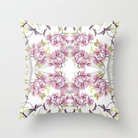 fairy tale Throw Pillows featuring Fairy tale  by GigiMoll