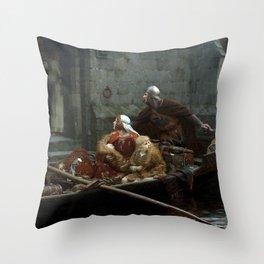 Edmund Blair Leighton In Time of Peril Throw Pillow