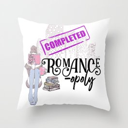 Romanceopoly 2019 Completed Throw Pillow