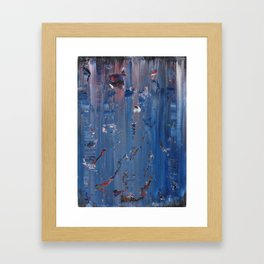 Abstract Blue/Purple Framed Art Print