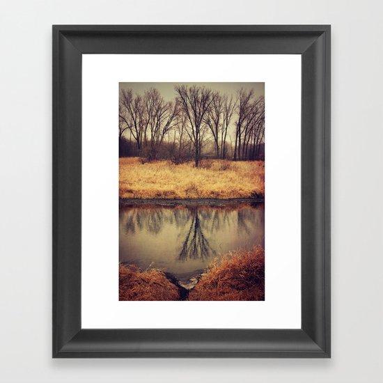 Sleeping Grass River Framed Art Print