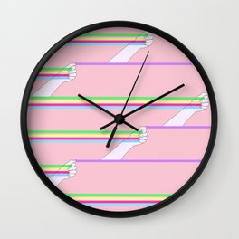 Feminist power pattern Wall Clock