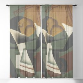 """Juan Gris """"Dish of Fruit"""" Sheer Curtain"""