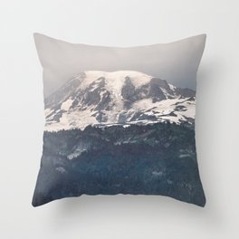 Mountain Wanderlust Adventure Mount Rainier Seattle - Nature Photography Throw Pillow