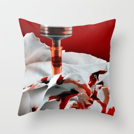 Paining a Rose Red Throw Pillow