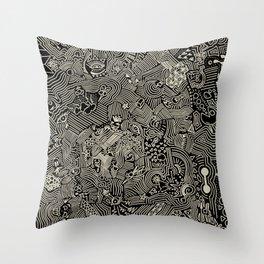The crazy world Throw Pillow