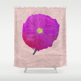 Purple and Red Wild Flower, Floral Art, Yellow, Exotic Flower Shower Curtain