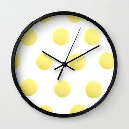 Yellow Isolated Pills Pattern Wall Clock